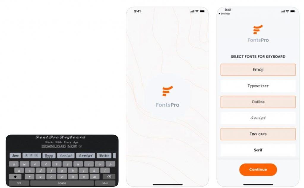 Fonts Pro Keyboard
