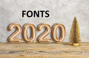 fonts 2020